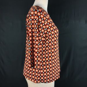 Vintage Tops - Vintage 90's Orange Retro Pattern Scoop Neck Shirt